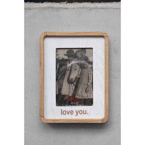 "MDF Photo Frame ""Love You"" (Holds 4"" x 6"" Photo)"