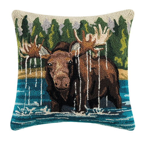 Moose in the Lake Pillow!!!