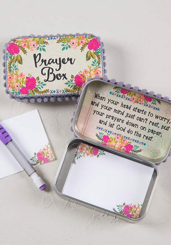 Natural Life Cream & Pink Roses Prayer Box