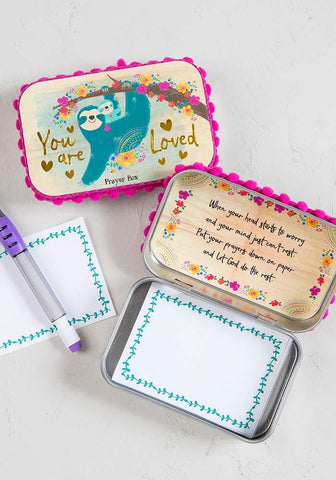 Natural Life You Are Loved Sloth Prayer Box