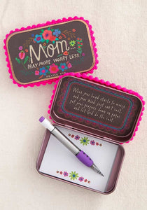 Natural Life Mom Pray More Worry Less Prayer Box