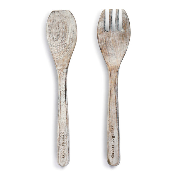 Gather Wood Serving Utensil Set