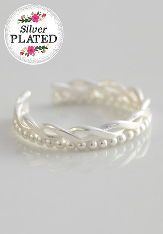 Natural Life Silver Twist Toe Ring