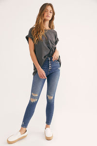 Free People Sabrina Super Skinny Jeans