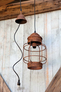 Salvaged Lantern Hanging Light Fixture