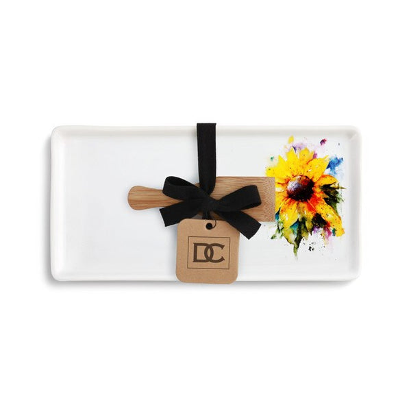 Sunflower Appetizer Tray with Spatula!!!
