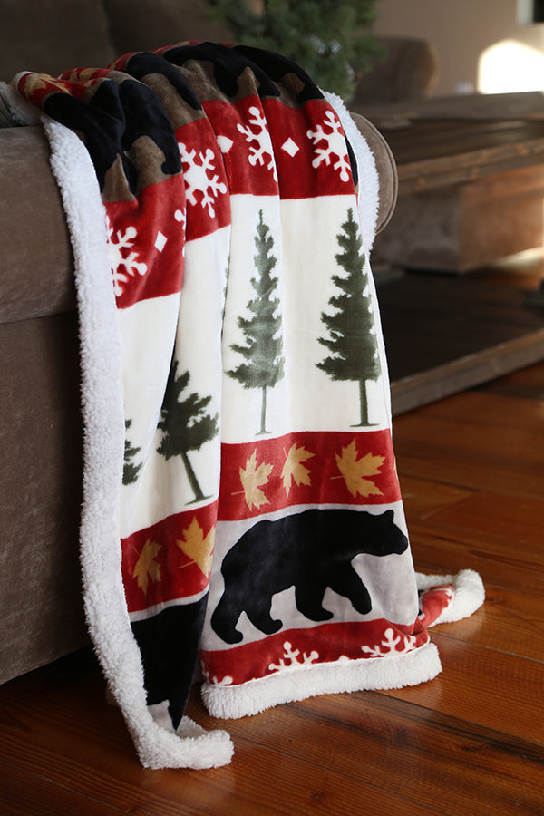 Tall Pine Plush Throw!!!