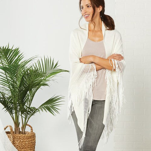 Triangle Knit Scarf with Fringe!!! THREE COLOR OPTIONS!!!
