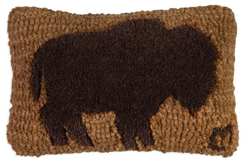 Buffalo (Tuffted) Hooked Wool Pillow
