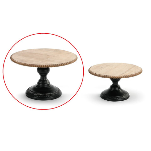 Large Wood and Metal Pedestal