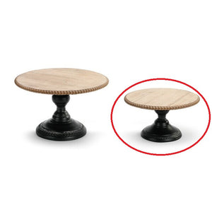 Small Wood and Metal Pedestal