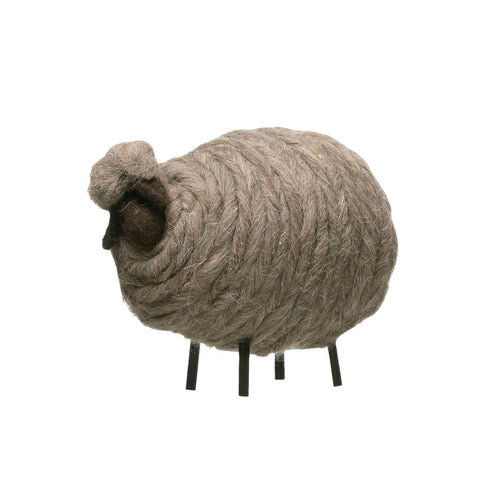 Medium Gray Wool Felt Sheep