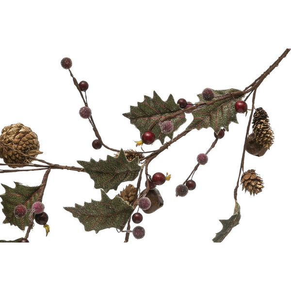 Faux Berries Leaves & Jingle bells garland
