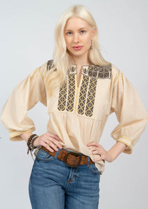 Ivy Jane Yolanda Cream Top