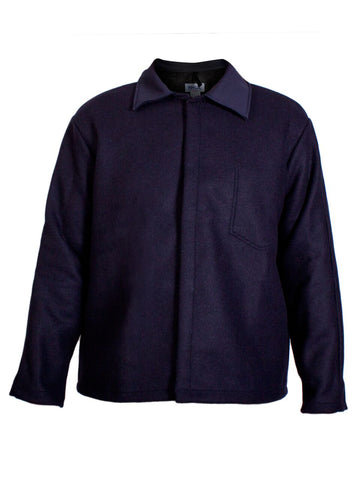 NSA Navy Blu Wool Coat - (C09WL)