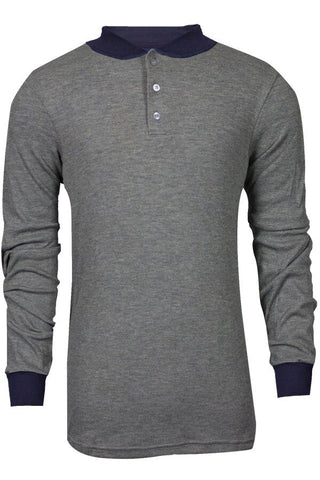 NSA TECGEN Select™ FR Long Sleeve Henley Grey - 13 Cal (C541NGEBSLS)