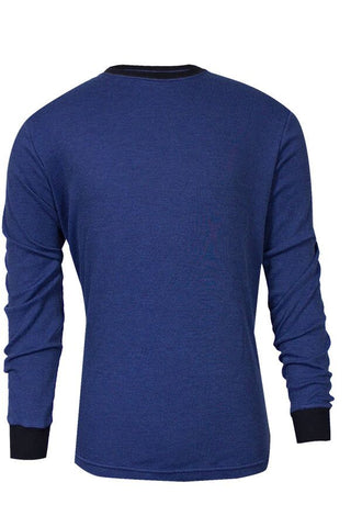 NSA TECGEN Select™ FR Long Sleeve T-Shirt Royal Blue with Navy Blue cuffs and collar - 13 Cal (C541NRBLS)