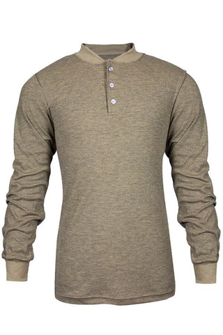 NSA TECGEN Select™ FR Long Sleeve Henley Tan - 13 Cal (C541NTNBSLS)