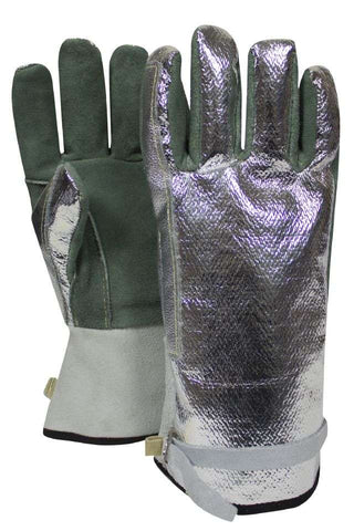 NSA Aluminzed Leather Glove with Adjustable Strap - (DJXG382S)