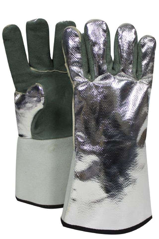 NSA Leather Glove with Aluminized Rayon Back - (DJXG395)