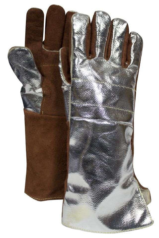NSA Thermal Leather Glove with Snap Adjustment - (DJXG705)