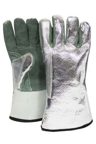 NSA Leather Glove with Aluminzed OPF Back - (DJXGSP382)