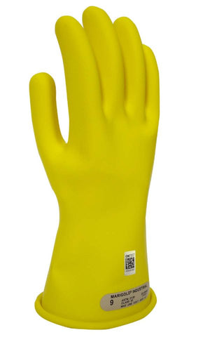 NSA Class 00 Rubber Voltage Gloves, Yellow (DWH1100)