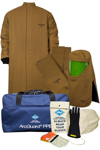 NSA ArcGuard® Arc Flash Kit with Short DuPont™ Kevlar®/ DuPont™ Nomex® Long Coat & Leggings ( KIT4LC65)