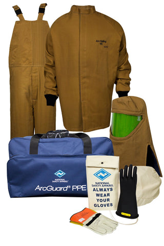 NSA ArcGuard® Arc Flash Kit with Short Coat & Bib Overall ( KIT4SC100)