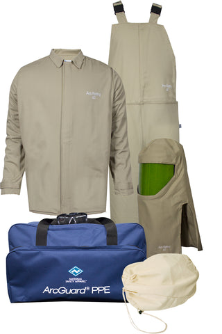 NSA ArcGuard® Economy™ Arc Flash Kit with Short Coat & Bib Overall, No Gloves (KIT4SC40EC)