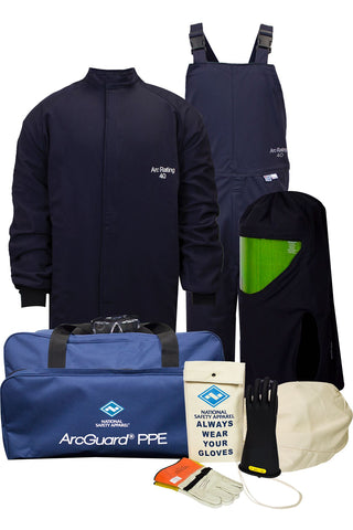 NSA ArcGuard® Compliance™ Arc Flash Kit with Short Coat & Bib Overall ( KIT4SC40)