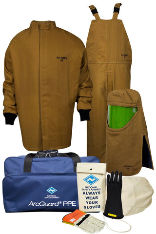 NSA ArcGuard® Arc Flash Kit with Short Coat & Bib Overall (KIT4SC65)