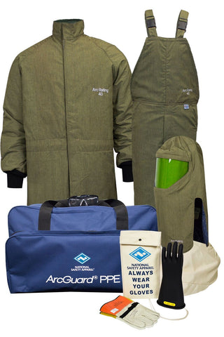 NSA ArcGuard® RevoLite™ Arc Flash Kit with Short Coat & Bib Overall (KIT4SCLT40)
