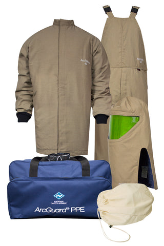 NSA ArcGuard® Arc Flash Kit with Short Coat & Bib Overall , No Gloves (KIT4SCPR40)