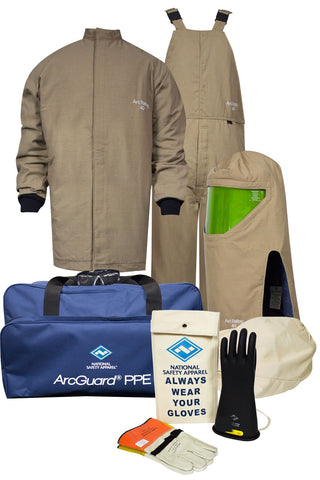 NSA ArcGuard® Arc Flash Kit with Short Coat & Bib Overall (KIT4SCPR40)