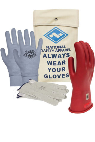 NSA Class 0 Rubber Voltage Gloves, Red (DWH110)