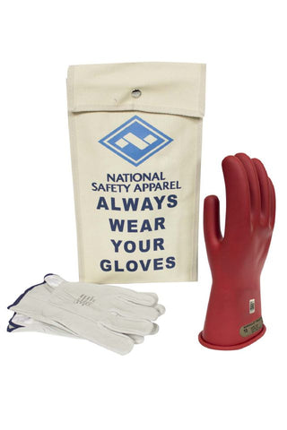 NSA Class 0 Rubber Insulating Voltage Glove Kit - Red (KITGC0)