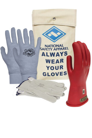 NSA Class 00 ArcGuard® Rubber Voltage Glove Premium Kit - Red (KITGC00)