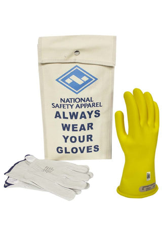 NSA Class 00 Rubber Insulating Voltage Glove Kit - Yellow (KITGC00)