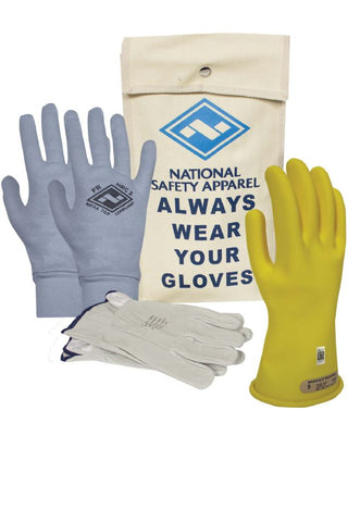 NSA Class 00 ArcGuard® Rubber Voltage Glove Premium Kit - Yellow (KITGC00)