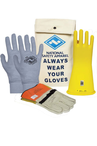 NSA Class 2 ArcGuard® Rubber Voltage Glove Premium Kit - Yellow (KITGC2)