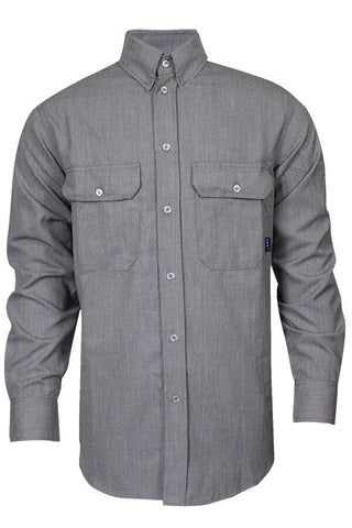 NSA 6 oz. CARBONCOMFORT™ FR Work Shirt Grey - 9.3 Cal (SHR-DWWS02-GE)