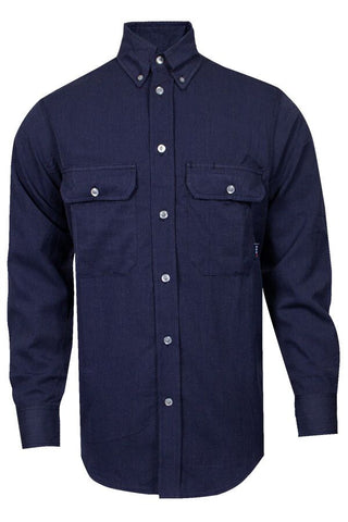 NSA 6 oz. CARBONCOMFORT™ FR Work Shirt Navy - 9.3 Cal (SHR-DWWS02-NB)