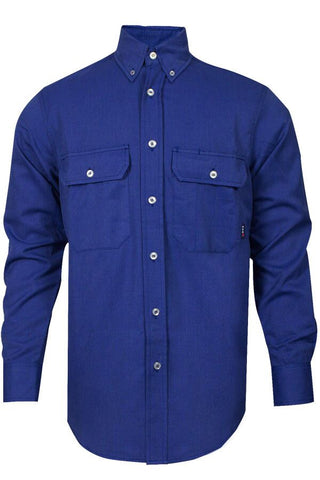 NSA 6 oz. CARBONCOMFORT™ FR Work Shirt Royal Blue - 9.3 Cal (SHR-DWWS02-RB)