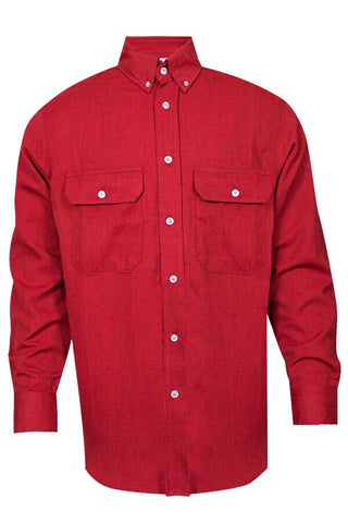 NSA 6 oz. CARBONCOMFORT™ FR Work Shirt Red - 9.3 Cal (SHR-DWWS02-RE)