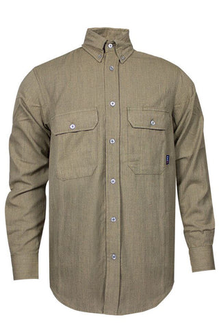 NSA 6 oz. CARBONCOMFORT™ FR Work Shirt Tan - 9.3 Cal (SHR-DWWS02-TN)