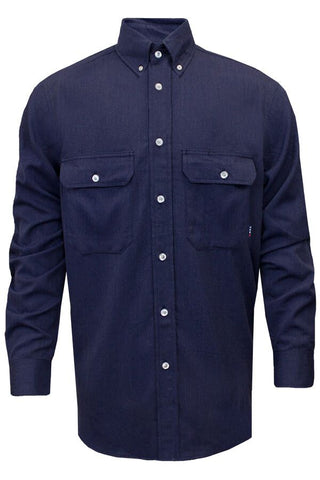 NSA 7 oz. CARBONCOMFORT™ Work Shirt Navy - 12 Cal (SHR-DWWS03-NB)