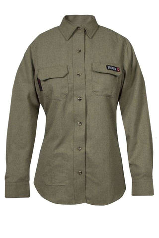 NSA Women's TECGEN Select™ FR Work Shirt in Khaki - 8 Cal (TCGSSWN00112)