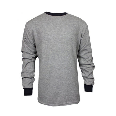 NSA TECGEN Select™ FR Long Sleeve T-Shirt Grey with Navy Blue cuffs and collar - 13 Cal (C541NGELS)