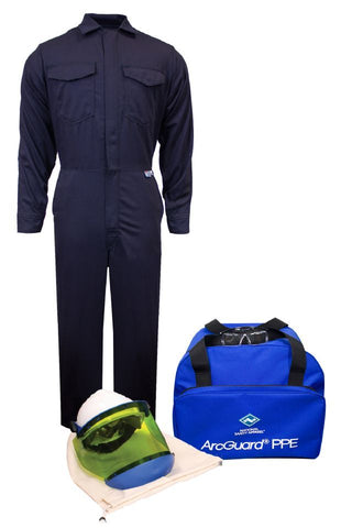 NSA ArcGuard® Arc Flash Kit with UltraSoft® Coverall, No Gloves (KIT2CV08NG)
